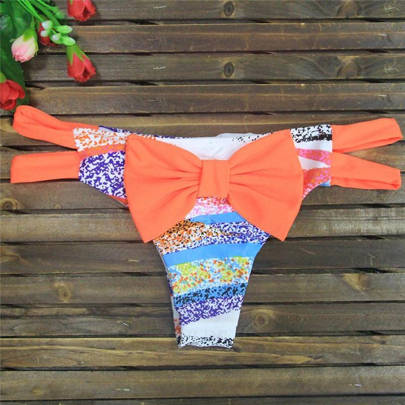 babyonline DRESS оранжевый L brazilian tanga bikini 2016 swimwear women big bow thong bikini bottom sexy brazilian biquini bralette trajes de bano women