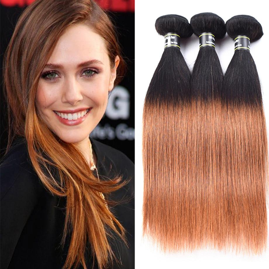 Amazing Star T1B  30 18 дюймов ombre прямые волосы жгут цвета цвет ombre волосы пучки t1b  30