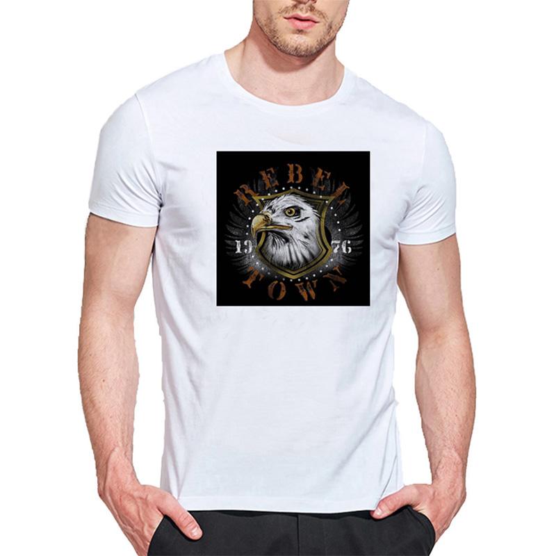 Фото - SHENDA XXL мужская o шея повседневная короткие рукава мода хлопковые футболки caribou head digital print