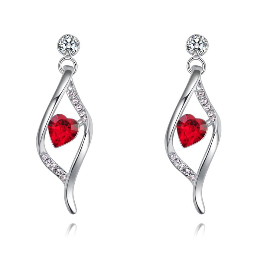 SHDEDE Red серьги серьги серьги серьги серьги серьги кристалл длинные модные женские принадлежности день святого валентина подарок 28489