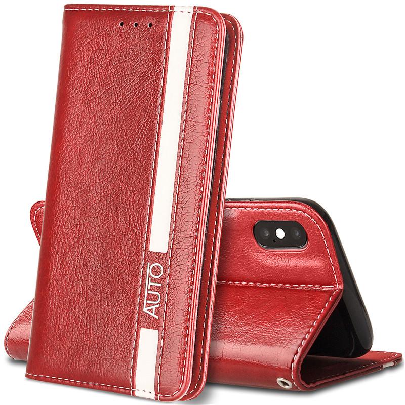 Iphone x чехол для кошелька черный iphone x кошелек для мужчин iphone x чехол для кошелька JYSS красный iPhone X фото