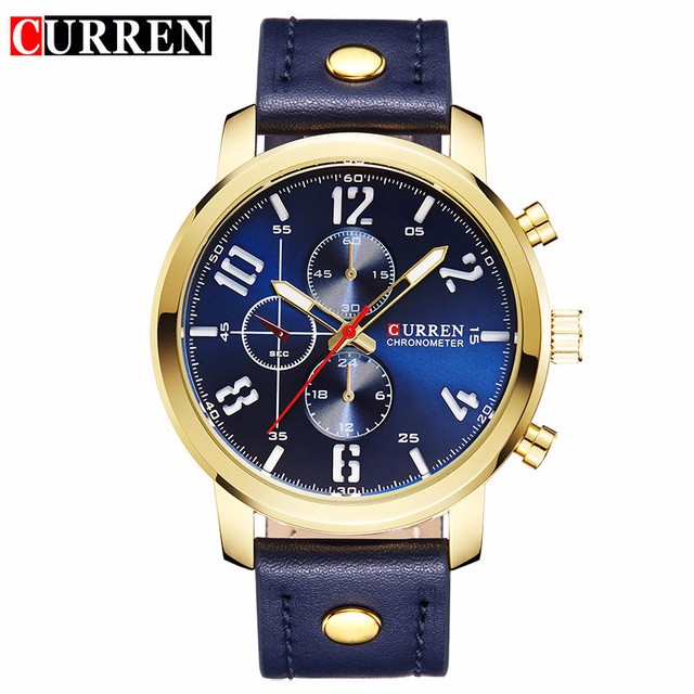 CURREN 04 men curren watches relogio masculino fashion montre homme hombre quartz watch male watch leather wristwatches 8192