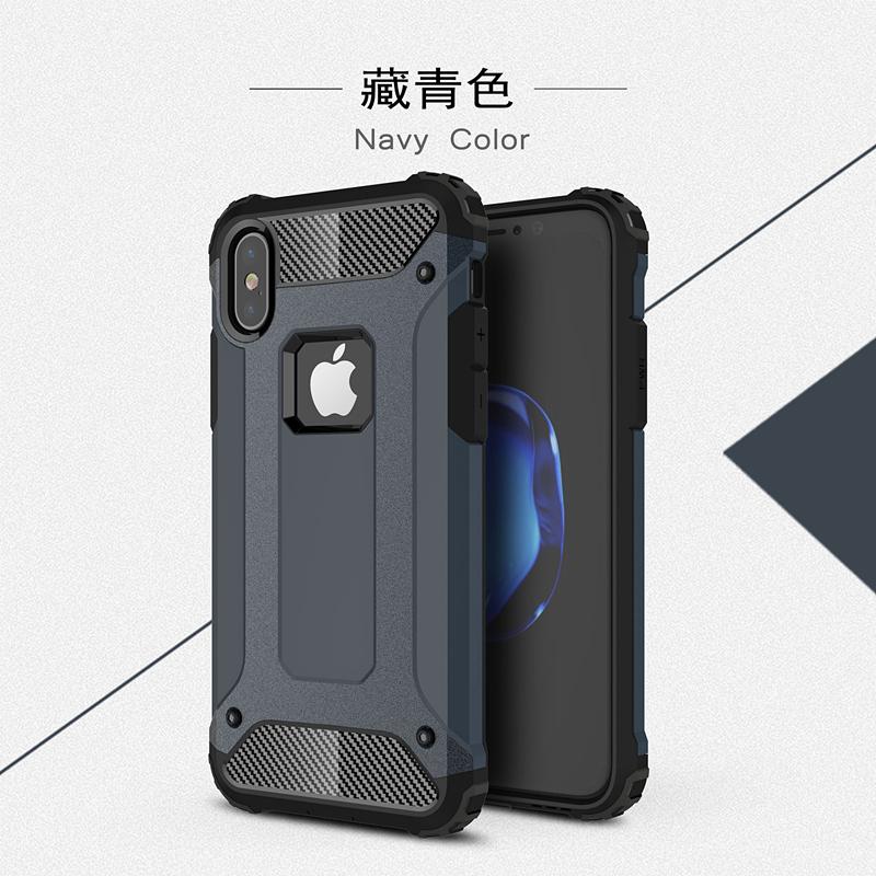 goowiiz темно-синий iphone 78 skid proof drop proof tpu bumper with pc back panel for iphone 7 black