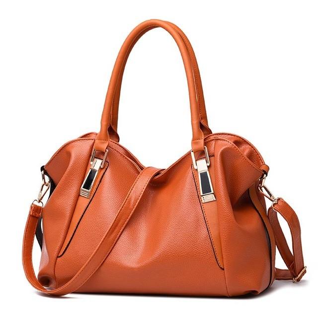 SMOOZA оранжевый большой горячие корейской леди женщины хобо кожа pu посланника плеча сумки totes кошелек