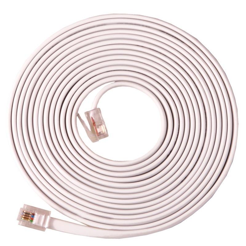 JD Коллекция 4-жильный многожильных 15 метров шэн shengwei 4 жильный телефонная линия для телефонных плоских нитей 10 м меди белый рафинированный 6p4c rj11 кабель tc 1100b