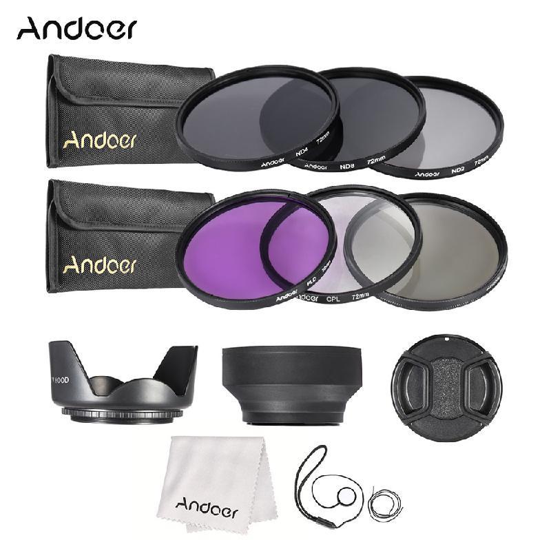 ANDOER Black 72мм neutral density nd2 nd400 fader nd filter 72mm