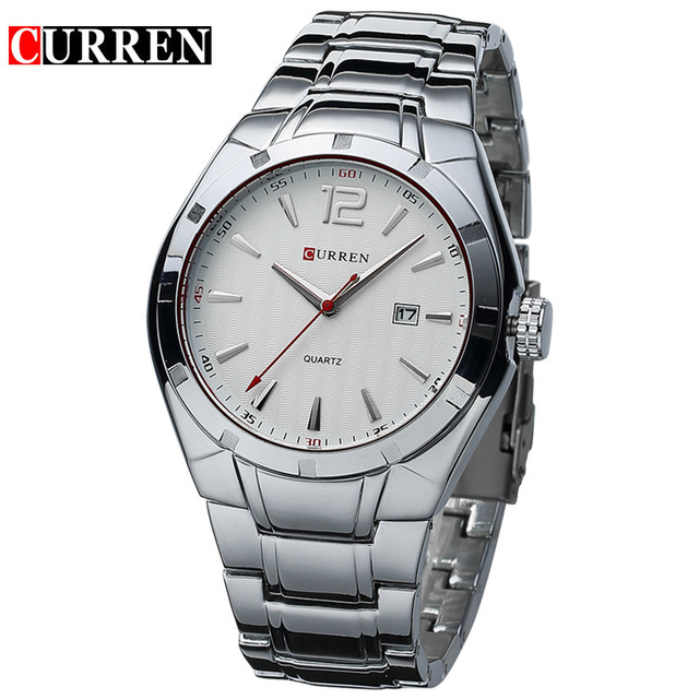 CURREN 02 mens watches top brand luxury curren men full stainless steel analog date quartz casual watch wristwatches relogio masculino