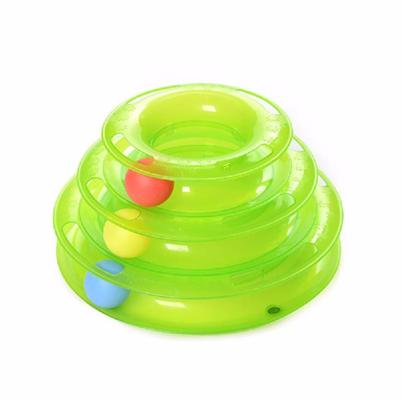 Ametoys Зеленый cat toy play circuit ball track
