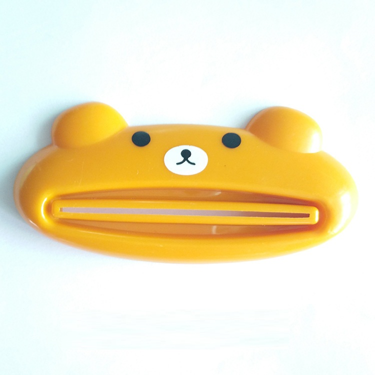 kangfeng Жёлтый цвет 1 pcs cartoon animal toothpaste tube squeezer easy squeeze paste dispenser roll holder tslm1