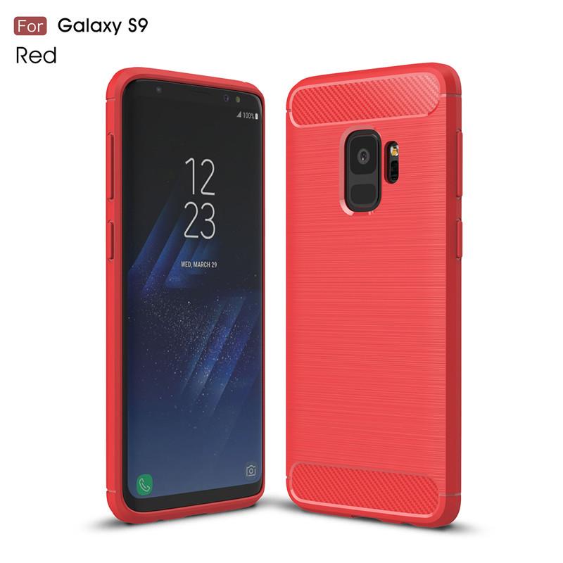 KYKEO Красный Samsung Galaxy S9 ultra slim clear phone cases for samsung galaxy s6