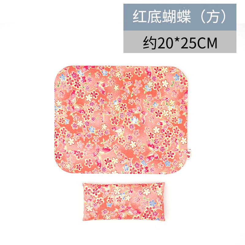 yuanyi Красная бабочка - квадратная рука съемные браслеты коврик для мыши его подушка клавиатура браслеты рука подушка запястье площадку браслеты коврик для мыши