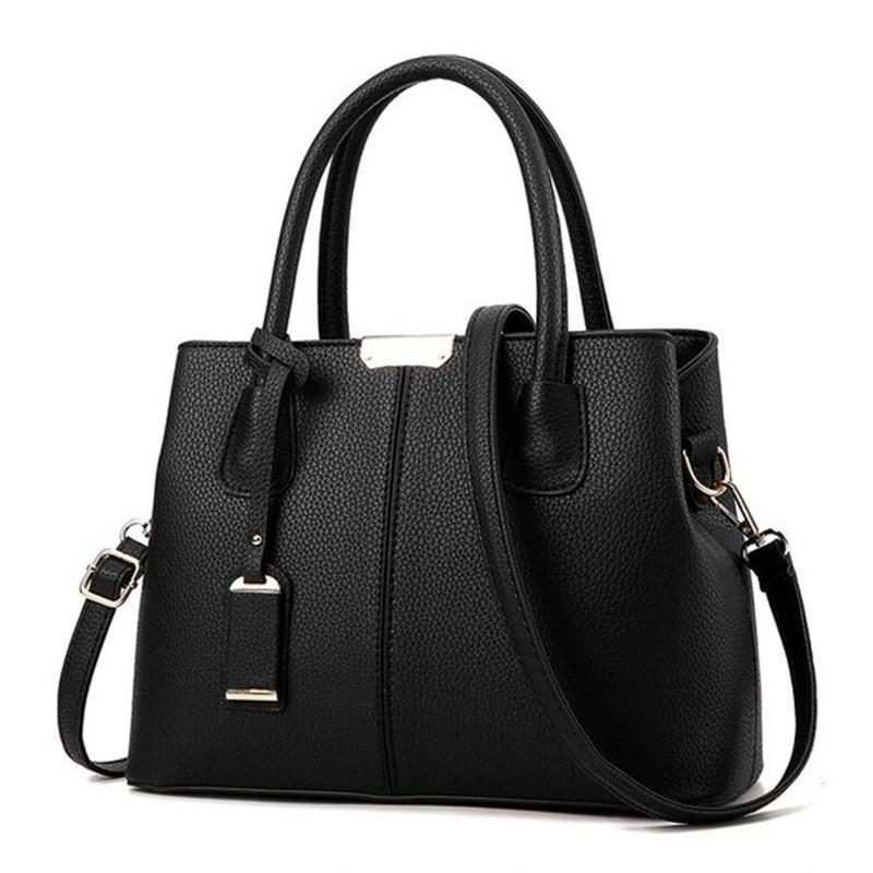 SMOOZA черный средний горячие корейской леди женщины хобо кожа pu посланника плеча сумки totes кошелек