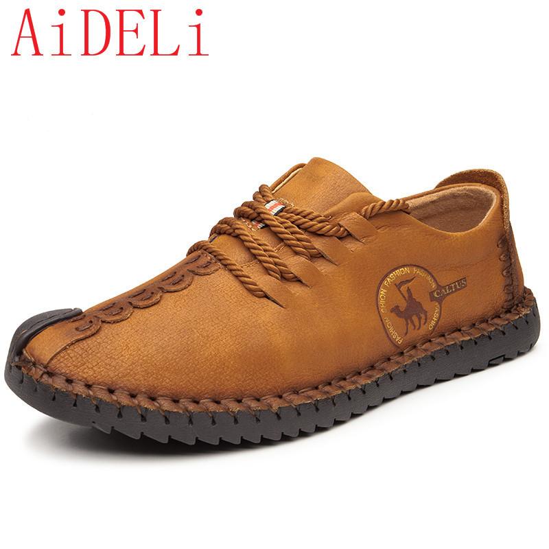 AiDELi светло-коричневый 9 ярдов 9 кабинета досуг вентиляция мужская обуви туфли мода поп ст