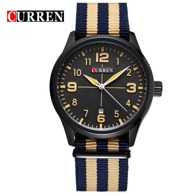 CURREN 01 часы nixon porter nylon gold white red