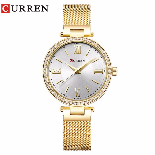 Фото - CURREN 02 guanqin gq17001 watches women luxury lady quartz watch ladies fashion casual clock ceramic bracelet wristwatch relogio feminino
