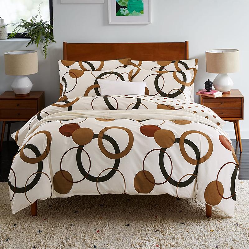 JD Коллекция коричневые круги 15 м 18 м текстиль для дома