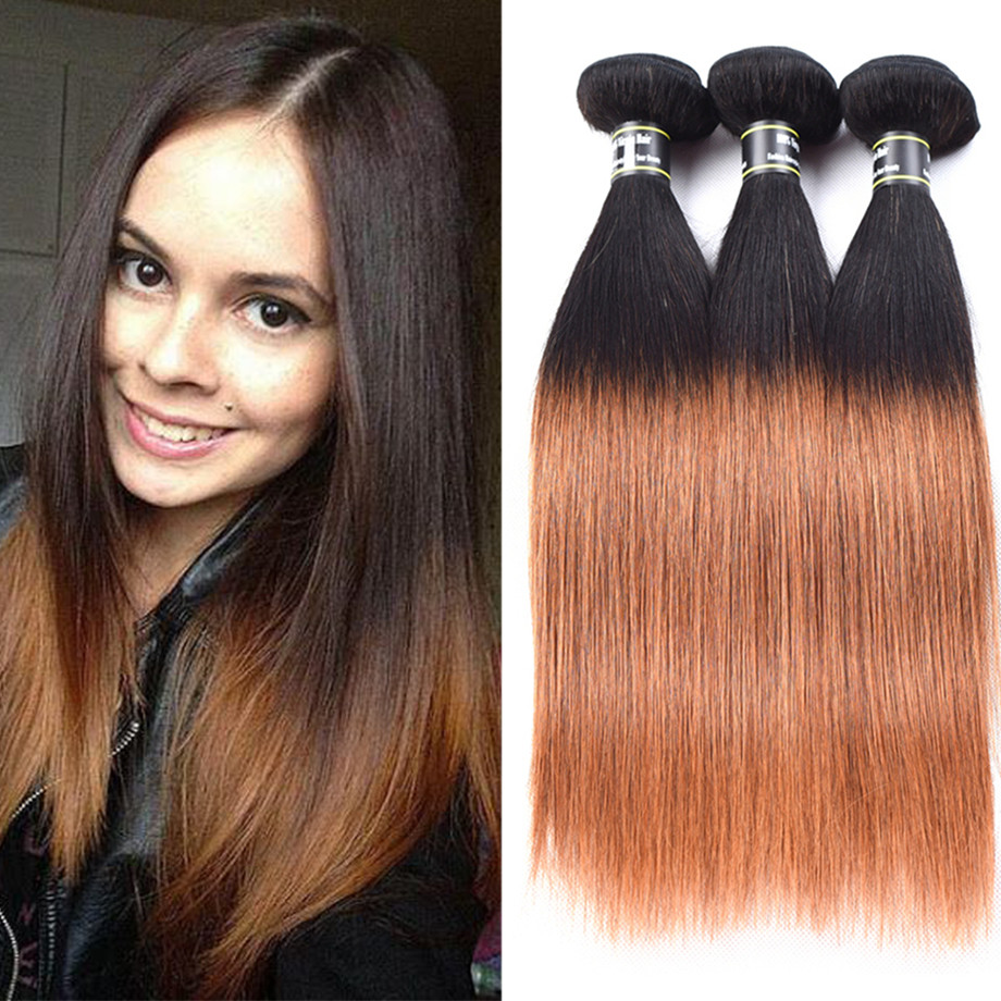 3 пучки волос ombre прямые волосы ombre индийские прямые волосы ombre волна волос Amazing Star T1B 30 12 дюймов фото