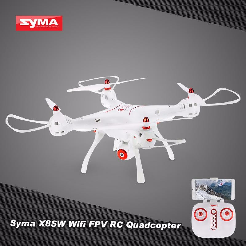 GoolRC White syma x8w wifi fpv rc quadcopter professional 2 4g 6 axis syma x8c rc drone with 2mp camera hd rc helicopter with vs syma x8hg
