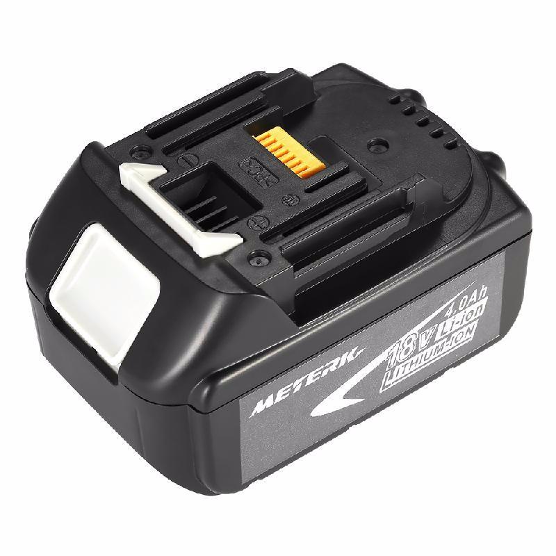 meterk Природный черный 5000mah rechargeable lithium ion replacement power tool battery packs for makita 18v bl1830 bl1840 bl1850 lxt400 194205 3 p25