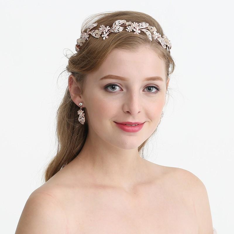 JONNAFE Роза золотой модный newborn bebe sparkling pearls elastic headband rhinestone gold silver hair bands girls photography props hair accessories