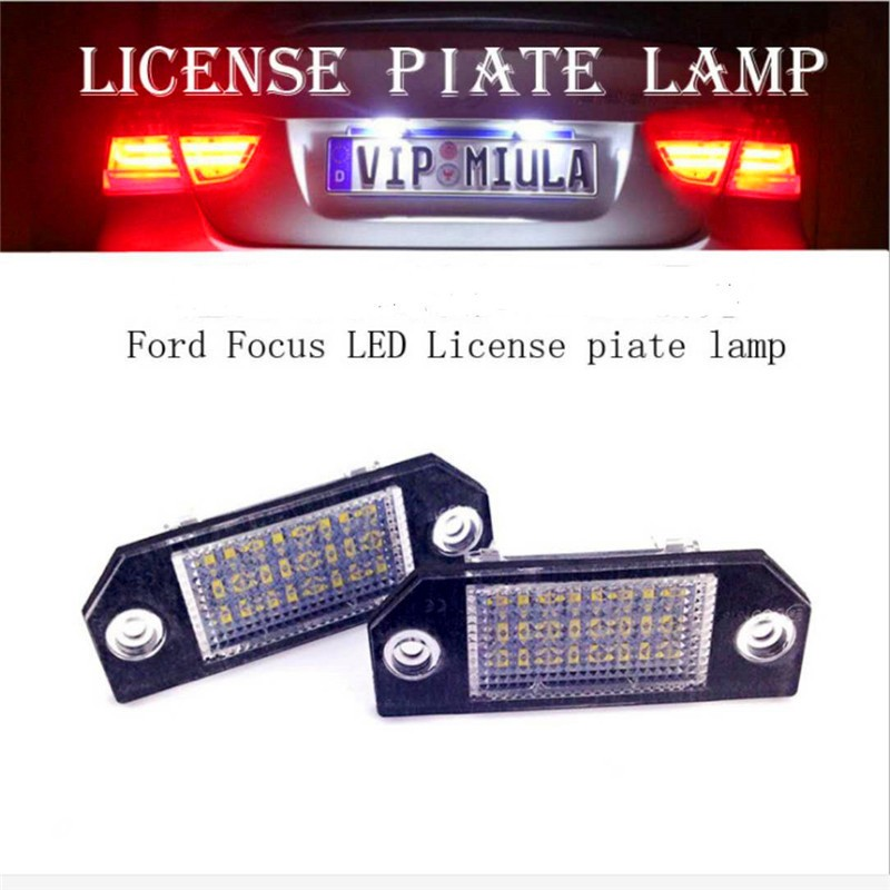 ASLED 2pcs car led license number plate light lamp for ford focus 2 c max white car light source