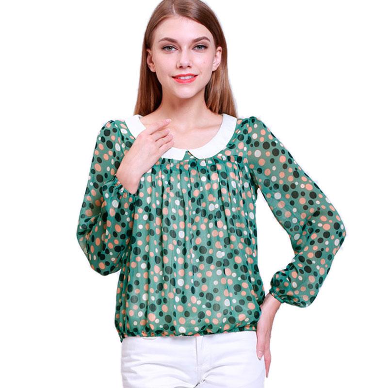 Mink Keer зеленый XL йемен весна и осень рубашка женская рубашка шифон круглый воротник рубашки 8510110638 белый xl