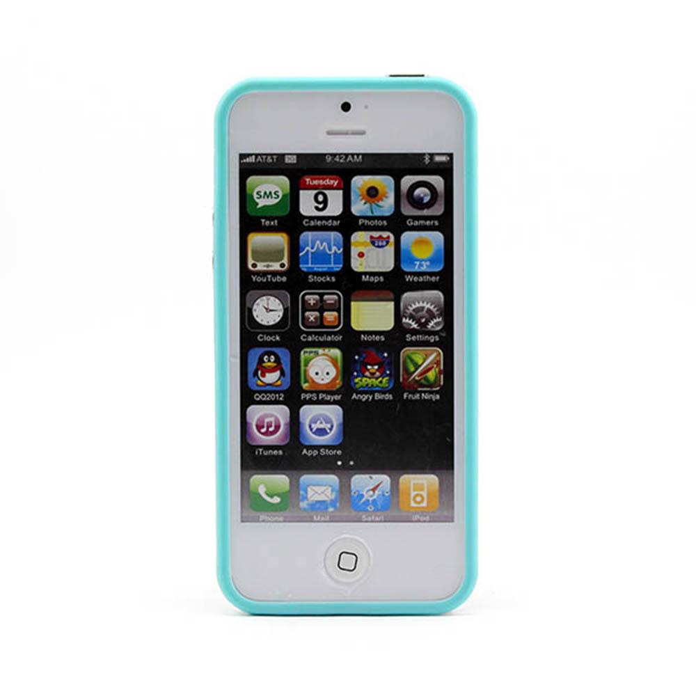 Vanker прозрачный Светло-синий iPhone 55S mooncase iphone 5 5s дело гибкая мягкий гель тпу силиконовая кожа тонкий прочный чехол для apple iphone 5 5g 5s серый