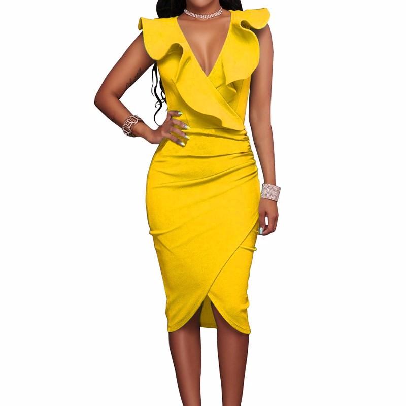 Платье платья выпускного вечера платья платья платья венчания платья выпускного вечера платья выпускного вечера SAKAZY Оранжевый желтый L фото