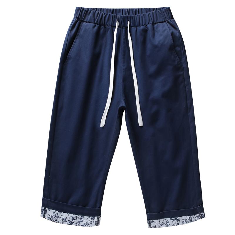 DaMaiZhang Темно-синий L shengui дворянские дорогие мужские летние льняные дышащие случайные шорты голубой l hwddk606