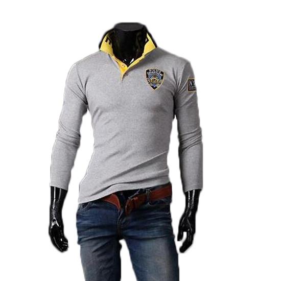ZOGAA zogaa новых корейских мужской рубашки поло моды тонкая вышивка