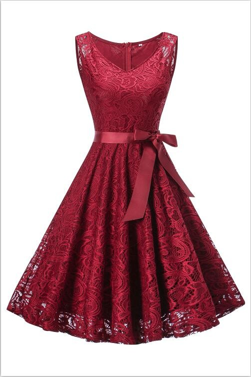 babyonlineDRESS Красное вино XXL lovely o neck lace flower girl dresses 2018 без рукавов кружева appliques bow belt princess pageant kids prom dress