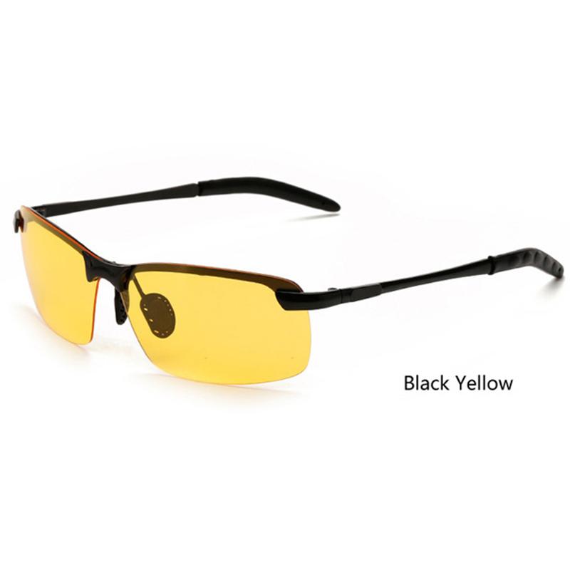Sisjuly Черный и желтый Прямоугольник очки водительские