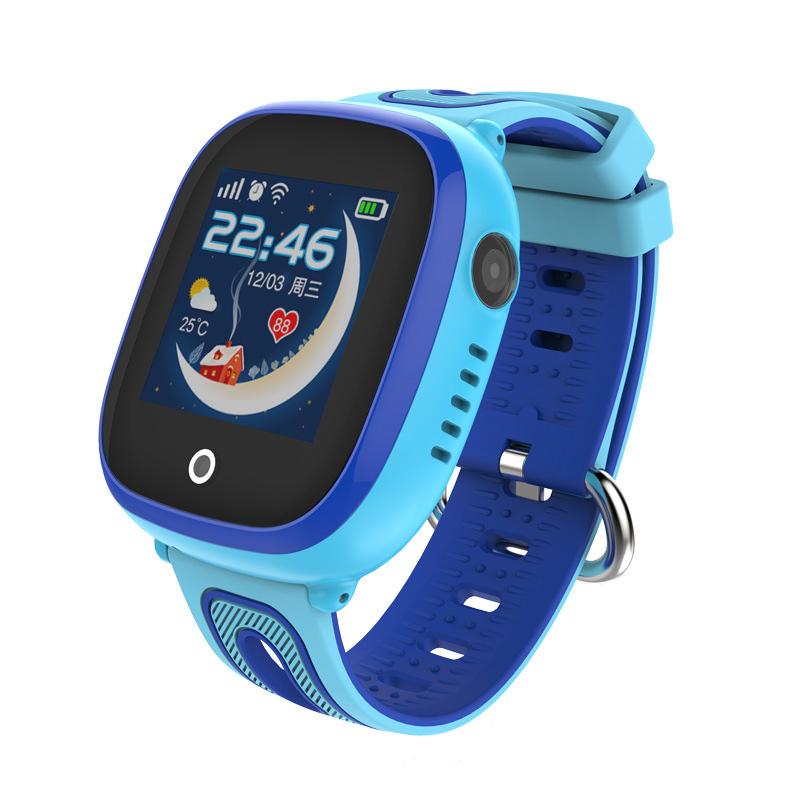 CHIGU Голубая английская версия 38мм smarcent df25 gps smart watch sos call ip67 waterproof smartwatch for child kids safe device tracker anti lost pk q50 q90 q100