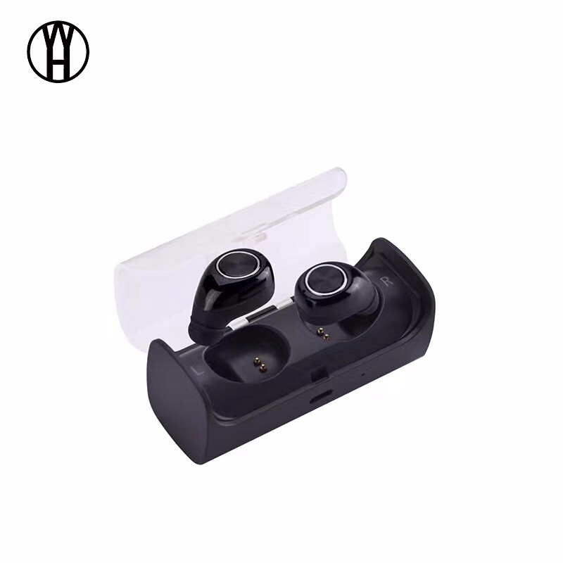 WH мудрость черный серебристый браги даш двойной беспроводной bluetooth гарнитуры спортивные наушники монитор сердечного ритма смарт встроенный 4g памяти ear black
