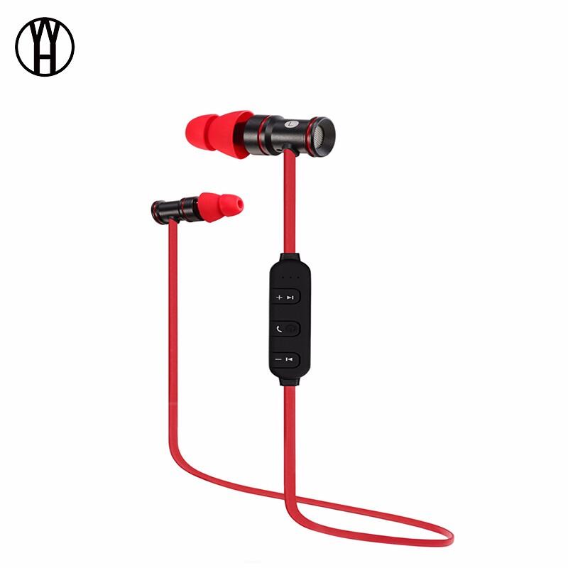 WH Красный цвет беспроводная связь bluetooth стерео гарнитура спортивные наушники наушники для smartphone
