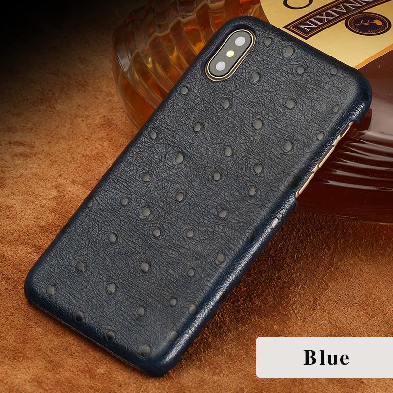 langsidi синий iPhone 6 6s g case ostrich texture card slot leather coated pc case for iphone 6s plus 6 plus black