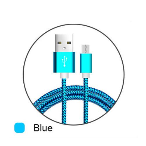 USB кабель кабель USB кабель кабель для samsung для xiaomi huawei samsung s7 AFILADO Синий цвет 2M фото