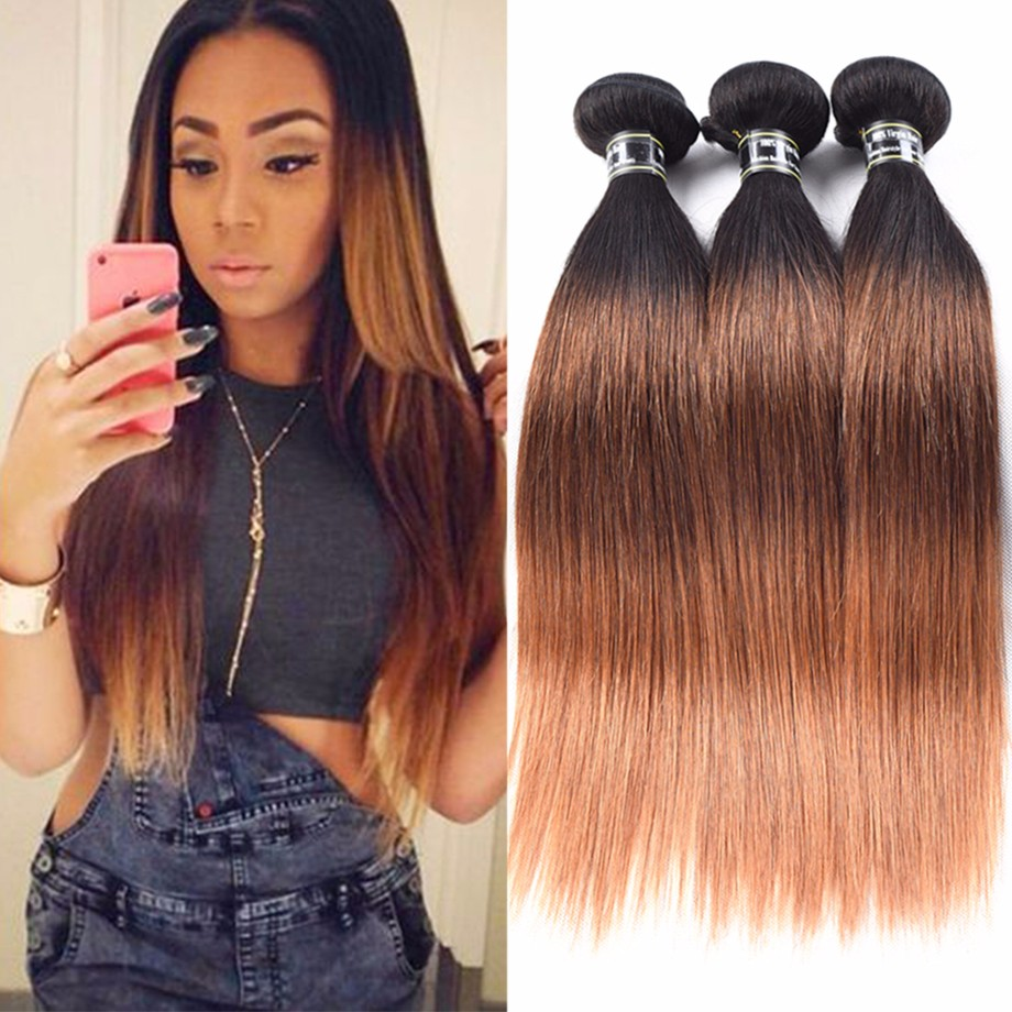 Amazing Star T1B  30 18 20 20 virgin malaysian hair ombre hair weft ombre волосы пучки