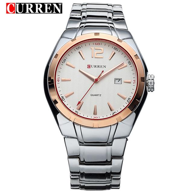 CURREN 04 mens watches top brand luxury curren men full stainless steel analog date quartz casual watch wristwatches relogio masculino