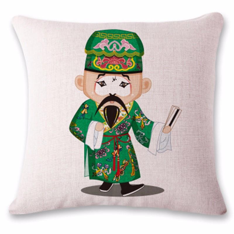 kangfeng Серый цвет cartoon panda print sofa cushion throw pillow case