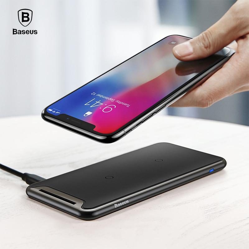 Baseus Черный universal qi wireless charger for cellphone black