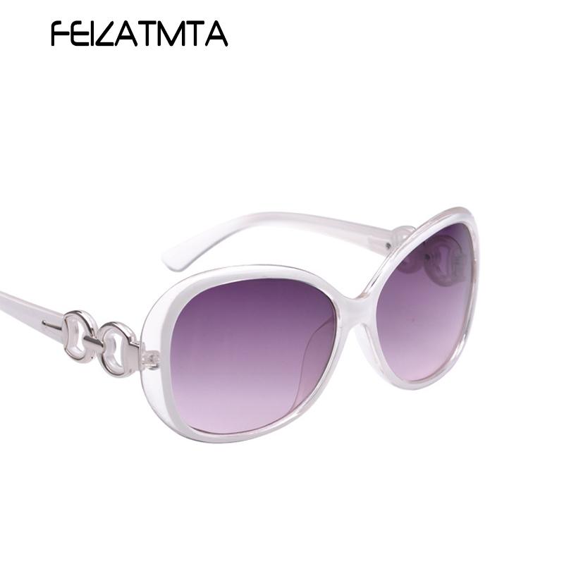 FEIZATMTA белый 2016 women metal frame sexy cat eye sunglasses coating vintage sun glasses female oculos de grau femininos uv400