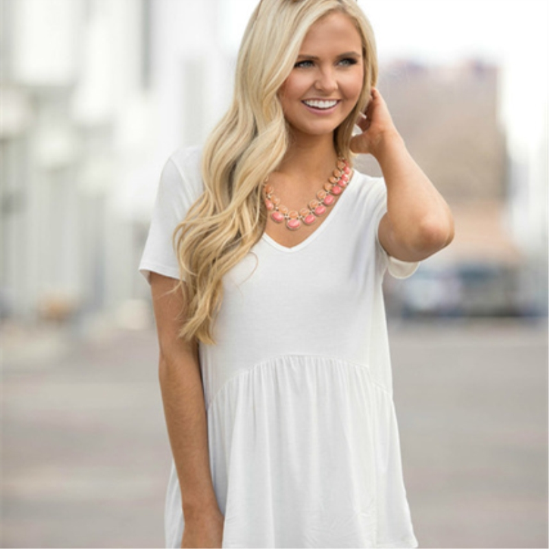 GPFDRL белый XL йемен весна и осень рубашка женская рубашка шифон круглый воротник рубашки 8510110638 белый xl