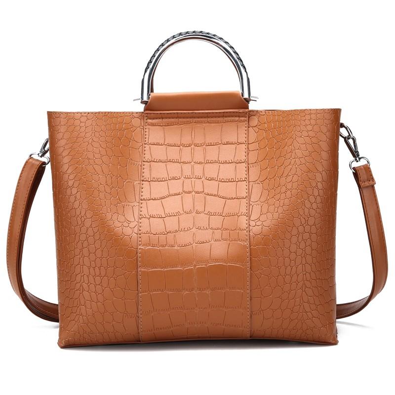 HANEROU коричневый женщины кожа pu плеча tote сумки хо��о сумки сумка сумка кошелек