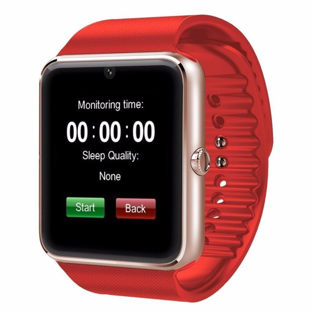 Uwatch Красный цвет элегантность умные часы bluetooth умные часы хороший подарок для друга мама папа сестра брат