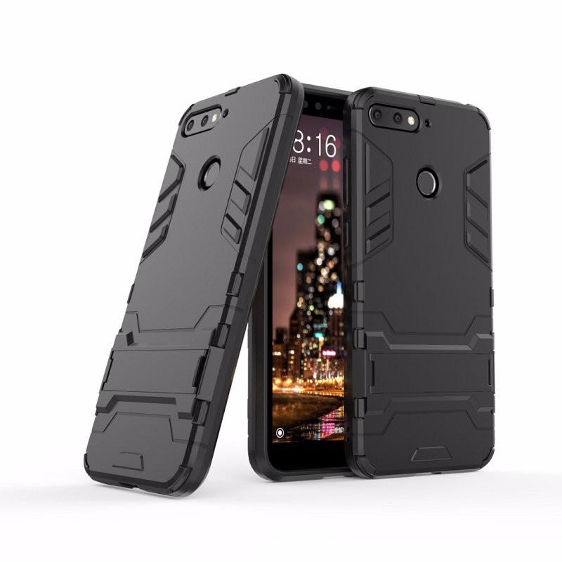 Ударопрочный жесткий чехол для телефона Huawei Honor 7A Pro AUM-L29 AUM-AL00 для чехла Huawei Honor 7A с жестким корпусом для Huawei Honor 7A Pro AUM-L29 AUM-AL00 Combo Armor Case Back Cover WIERSS черный для Huawei Honor 7A Pro фото