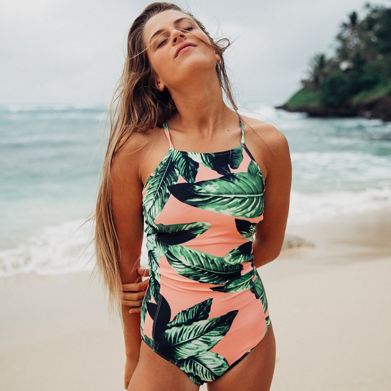 yuerlian Зеленый S anyfashion 2017 sexy swimwear woman printing one piece swimsuit monokini padded bathing women s swimming suit summer beach wear
