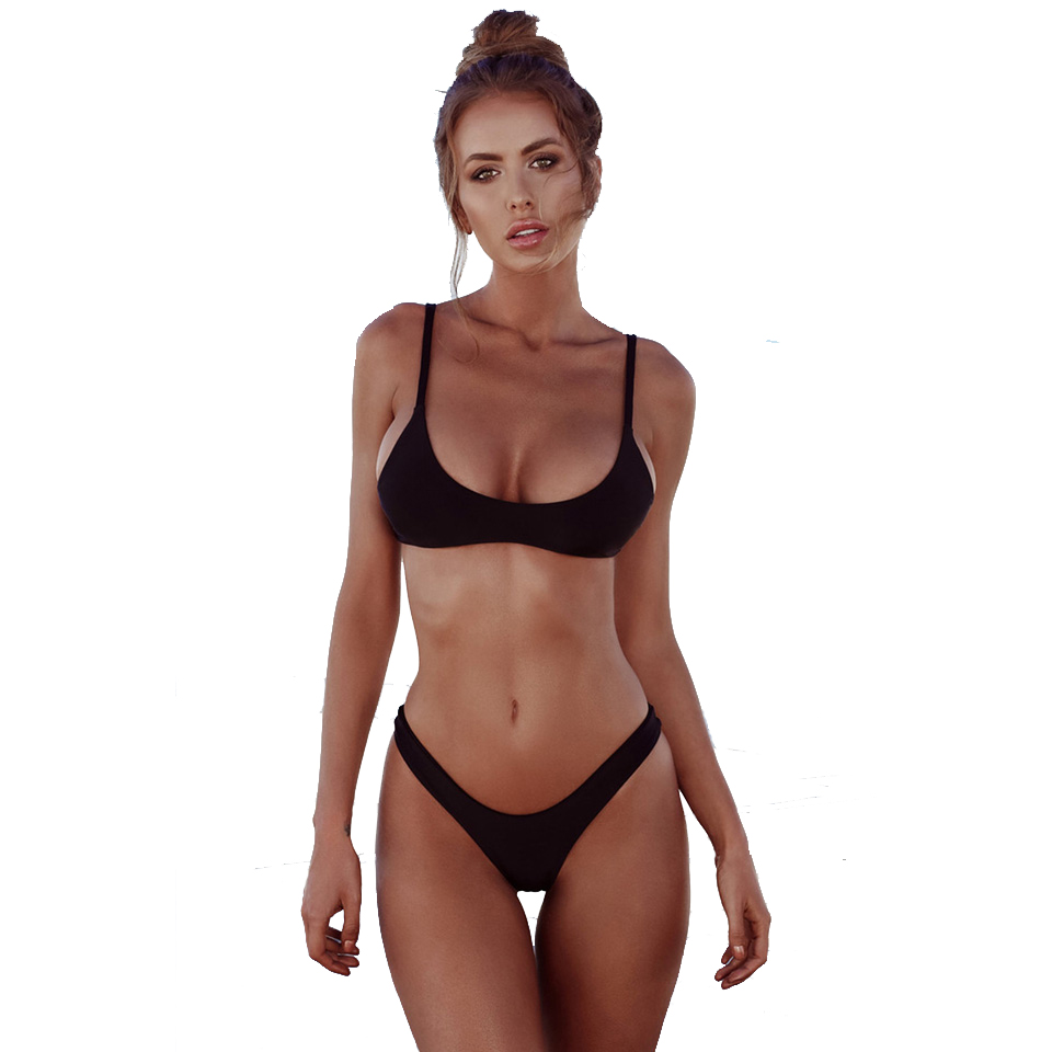 M&M Black M brazilian tanga bikini 2016 swimwear women big bow thong bikini bottom sexy brazilian biquini bralette trajes de bano women