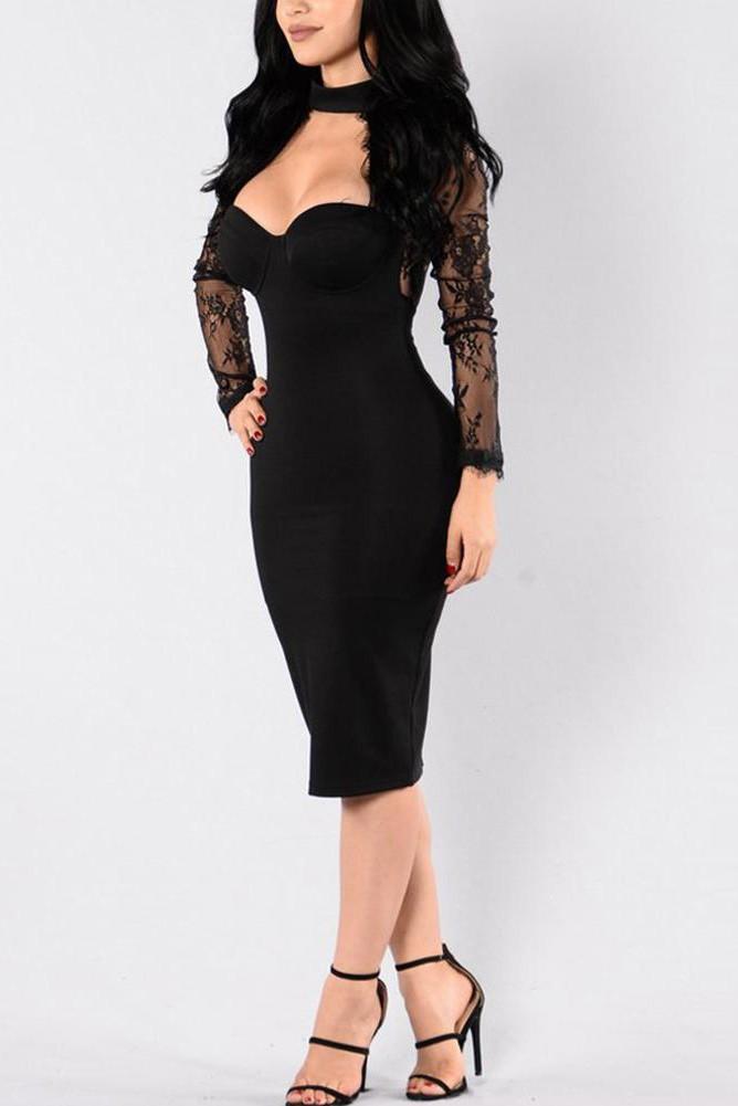 Платье для выпускного вечера малыш платье черный XL фото