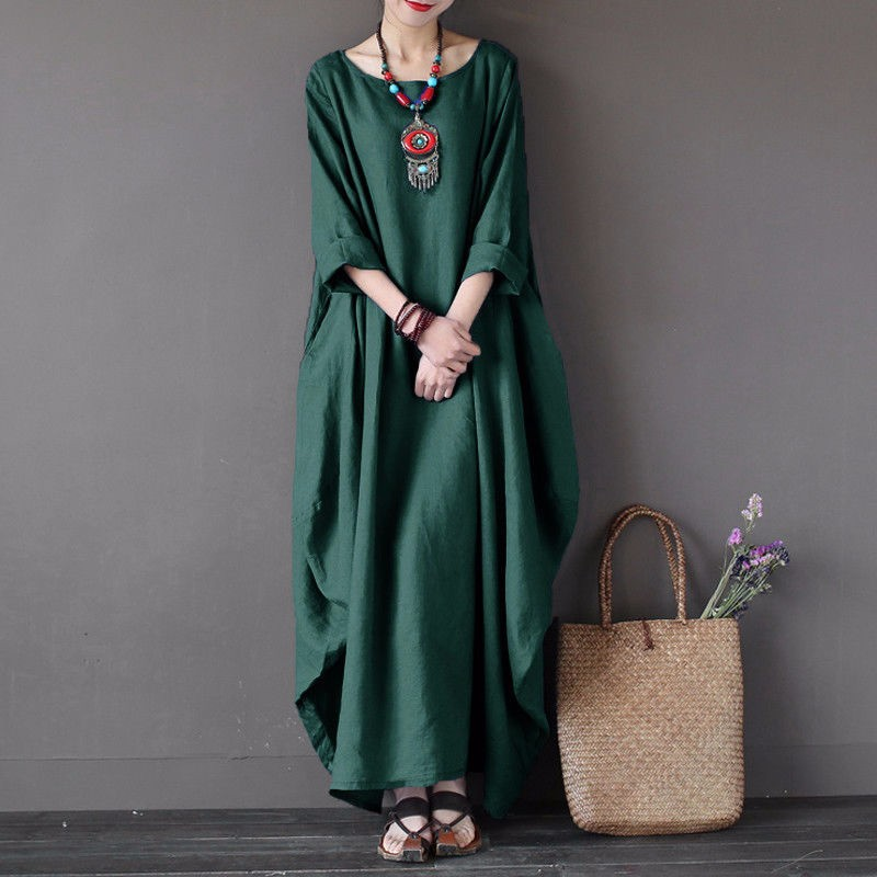 Платье платья шикарное платье женщин летнее платье SAKAZY зеленый 5XL фото